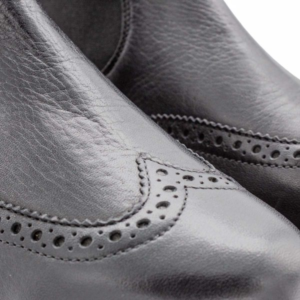 Chelsea Boot - Haselmaus - Detail Perforation