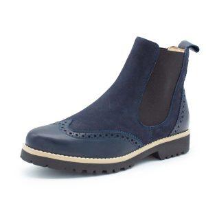 klassischer Chesea Boot - dunkelblau