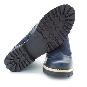 klassischer Chesea Boot - dunkelblau - Sohle