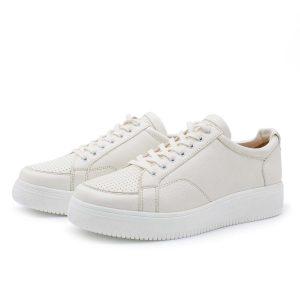 weißer Sneaker | Rauchschwalbe | aus Bioleder | faire & nachhaltige Produktion in Europa