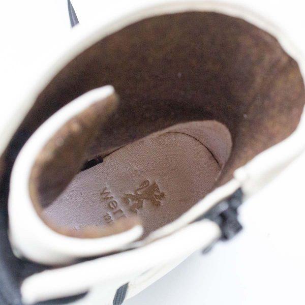 schwarzweiße Stiefel - Einhorn - innen