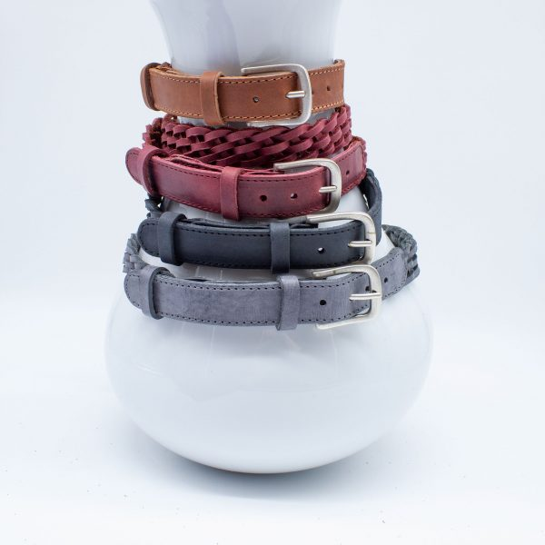 geflochtener Ledergürtel - Farbmix