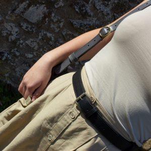 breiter Ledergürtel