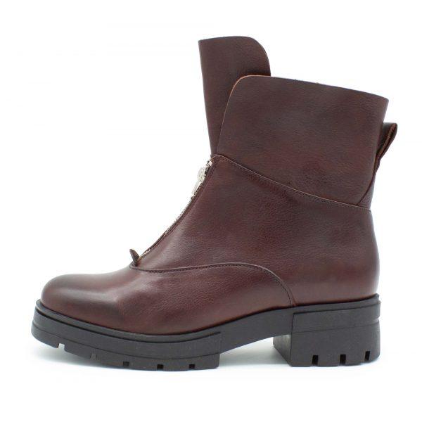 Stiefel mit Reißverschluss - B-Ware - bordeaux - Seitenansicht