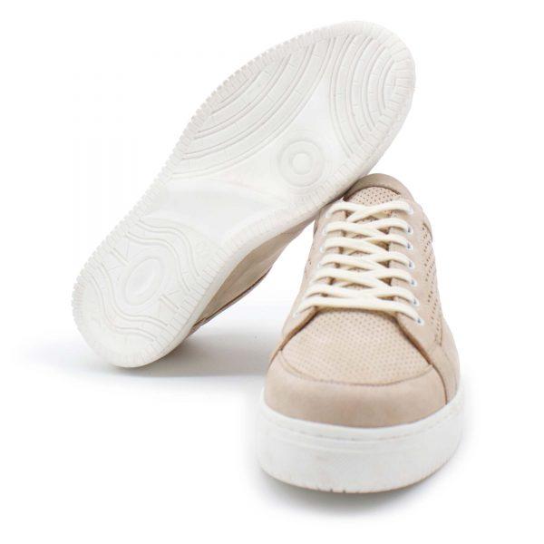 sommerlicher Ledersneaker - Amsel - sand - Paar - Sohle