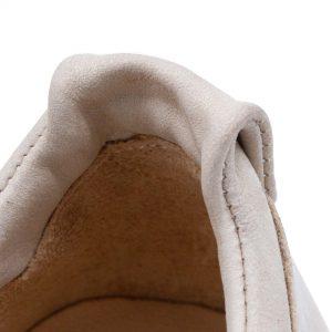 sommerlicher Ledersneaker - Amsel - sand - Detail Ferse