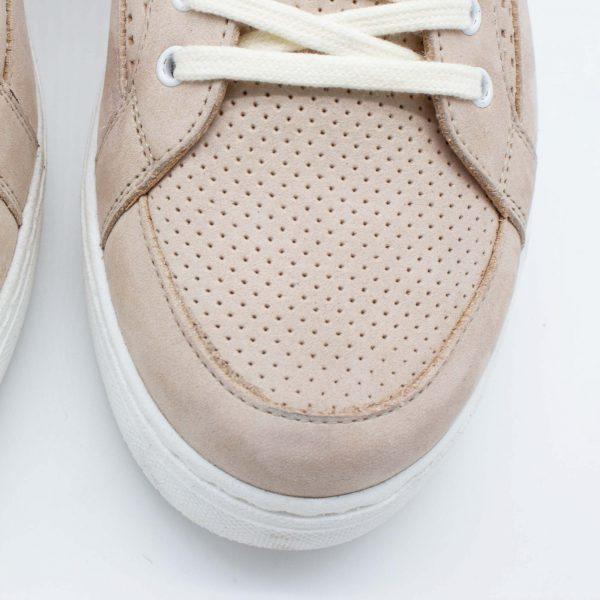 sommerlicher Ledersneaker - Amsel - sand - Detail Oben