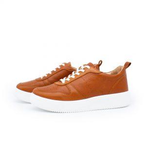 brauner Ledersneaker - cuoio - Paar
