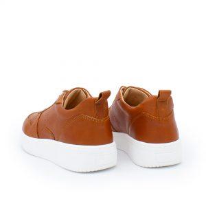 brauner Ledersneaker - cuoio - Rückseite