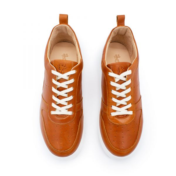 brauner Ledersneaker - cuoio - oben