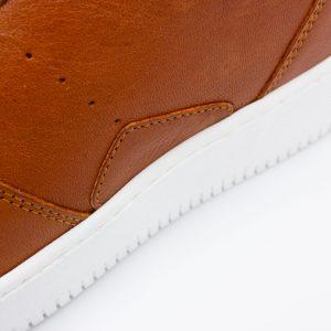 brauner Ledersneaker - cuoio - detail Seite
