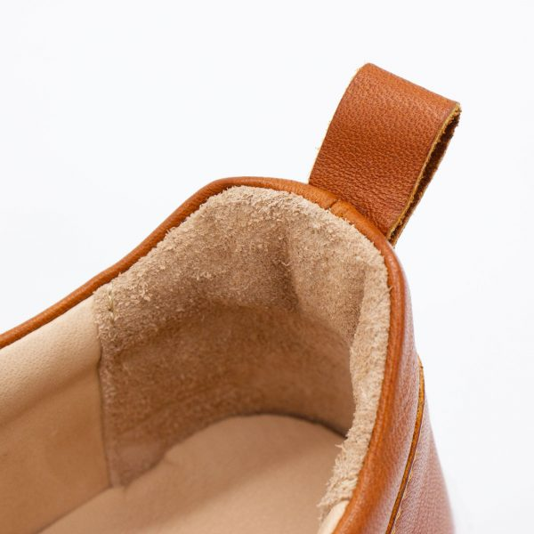 brauner Ledersneaker - cuoio - detail Lache