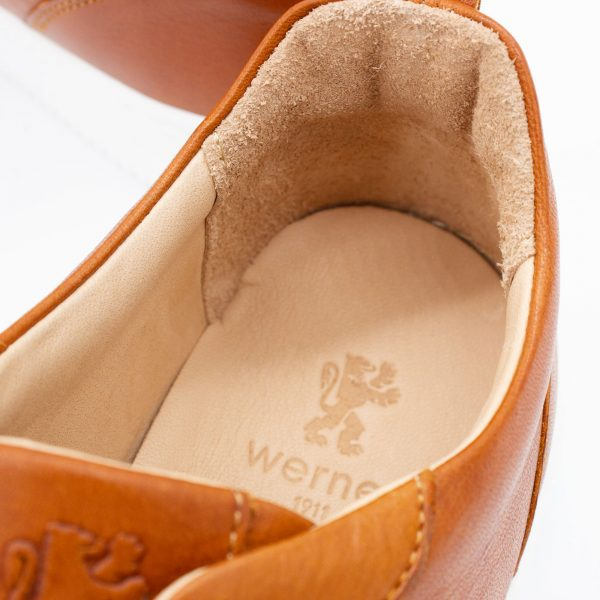 brauner Ledersneaker - cuoio - detail Decksohle
