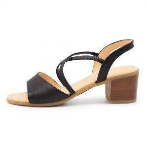 elegante Sandalette - Edelweiß - schwarz