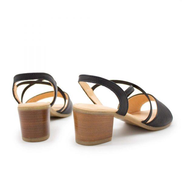 elegante Sandalette - Edelweiß - schwarz - Paar - Hinten