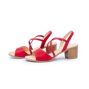 elegante Sandalette - rot