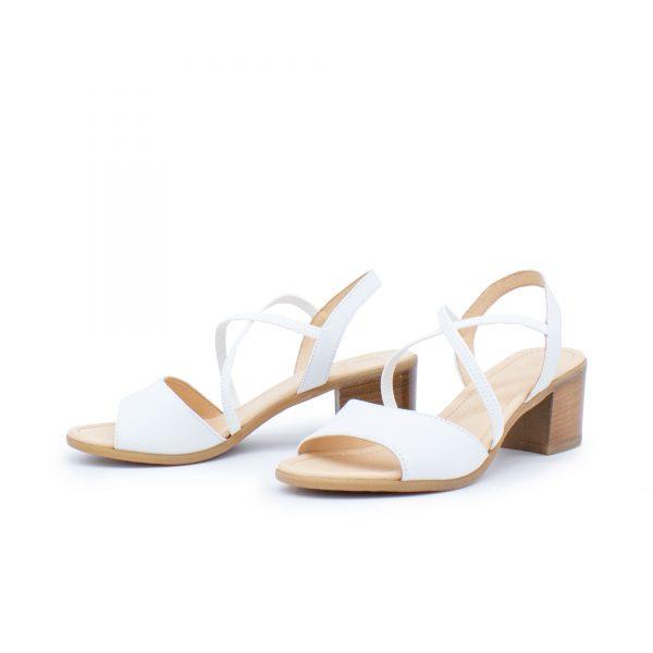 elegante Sandalette - weiß