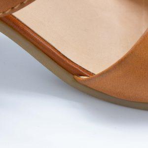 Pantoletten mit Absatz - Elfenschuh - cuoio - Detail Fußbett