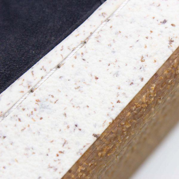Herrensneaker aus Nubukleder - dunkelblau - Milan - Detail Sohle
