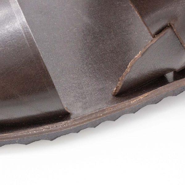 rustikale Herrensandale - Oleander - mokka - Detail Decksohle
