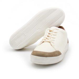 femininer Ledersneaker - Star - stone - Sohle