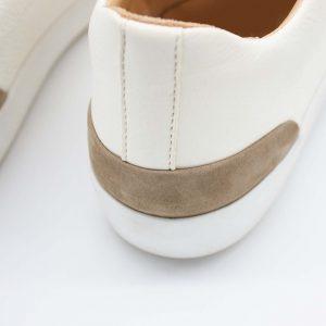 femininer Ledersneaker - Star - stone - Ferse