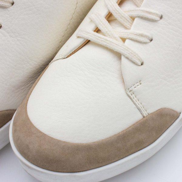 femininer Ledersneaker - Star - stone - Detail Kappe