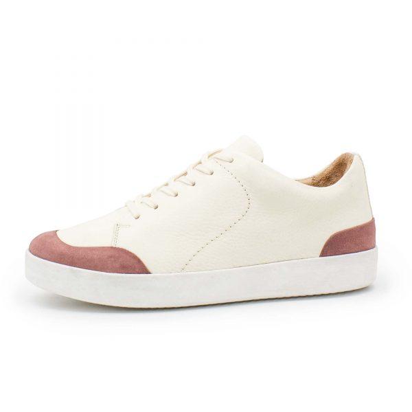 femininer Ledersneaker - Star - altrosa