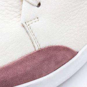 femininer Ledersneaker - Star - altrosa - Detail Naht