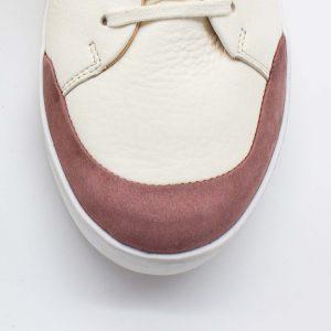femininer Ledersneaker - Star - altrosa - Detail Kappe