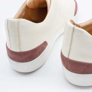 femininer Ledersneaker - Star - altrosa - Detail Ferse