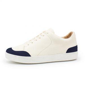 femininer Ledersneaker - Star - dunkelblau