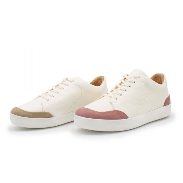 femininer Ledersneaker - Star - altrosa+stone