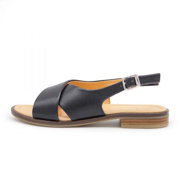 Sandale mit gekreuzten Riemen - Surfinia - schwarz