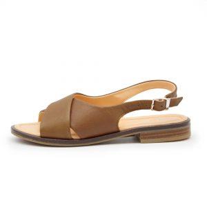 Sandale mit gekreuzten Riemen - Surfinia - natur