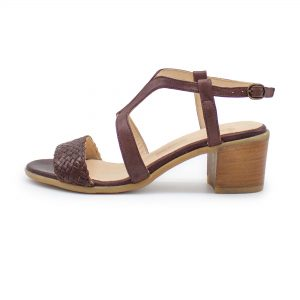 Sandalette mit Flechtdetail - Vergissmeinnicht - bordeaux