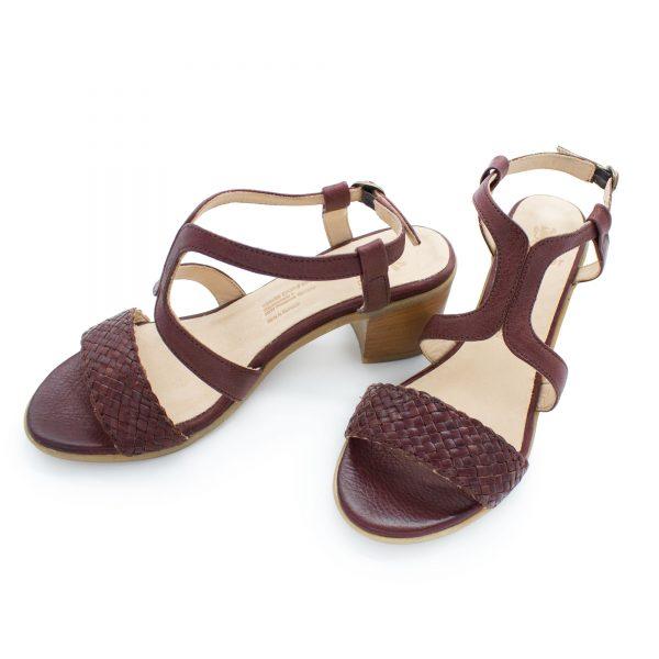 Sandalette mit Flechtdetail - Vergissmeinnicht - bordeaux - Paar - Oben