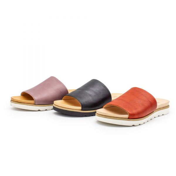 Pantolette mit breitem Riemen - Windrose - Farben - Farben 2
