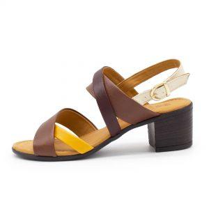 mehrfarbige Sandalette