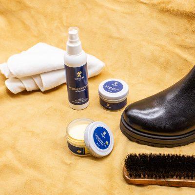 Schuhpflege für Naturleder