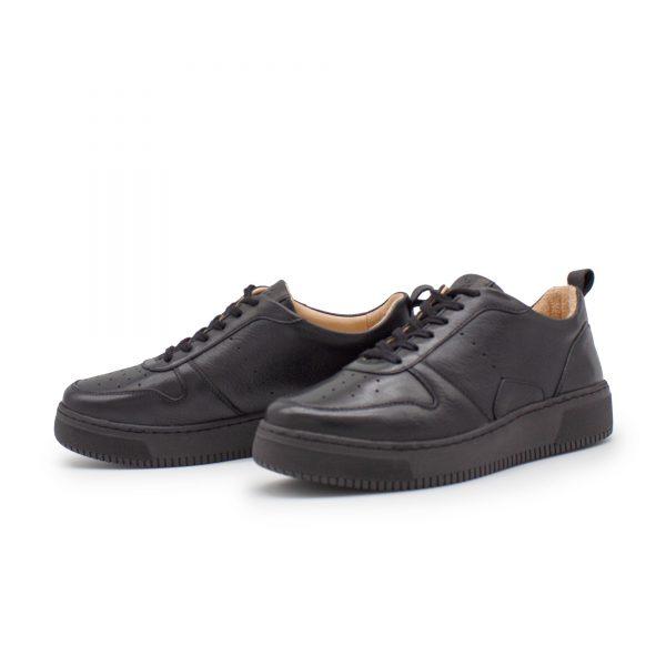 schwarze Sneaker - Naturleder